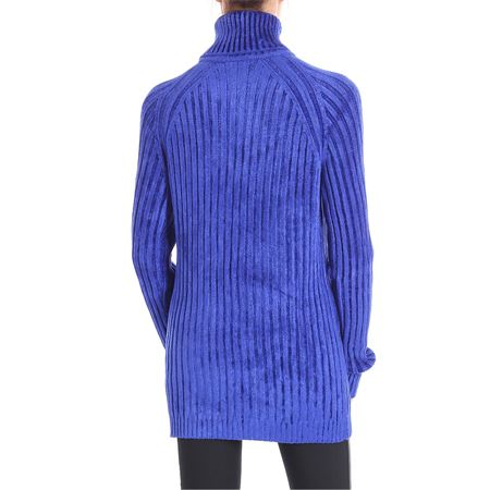 d44cfca4bdf5 Balmain bluette stretch viscose turtleneck sweater.