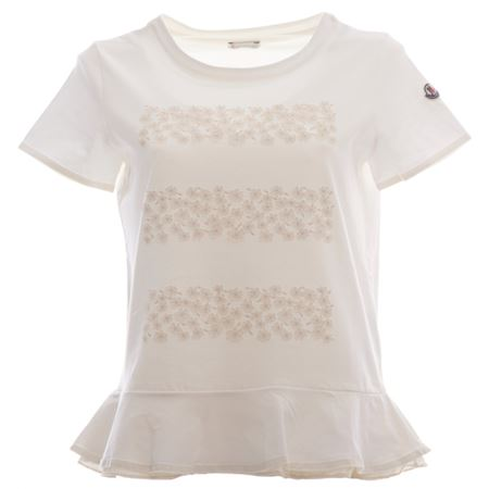 Rouches Con Shirt Avoriobrbr T Moncler Donna oWBxrCed